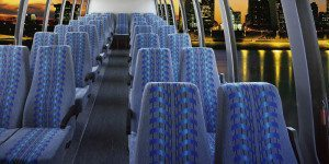 San Diego Chater bus interior