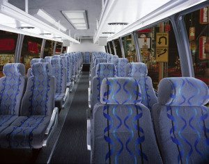 San Diego Chater bus passenger