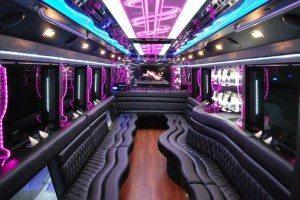 san diego limo bus 40 passenger interior