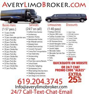 San Diego Limo Service To Night Clubs And Venues events guest list tickets